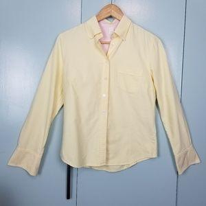 J.Crew yellow button down shirt size S -C4